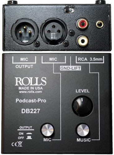 Rolls DB227 Podcast Pro Microphone Source Mixer DB227