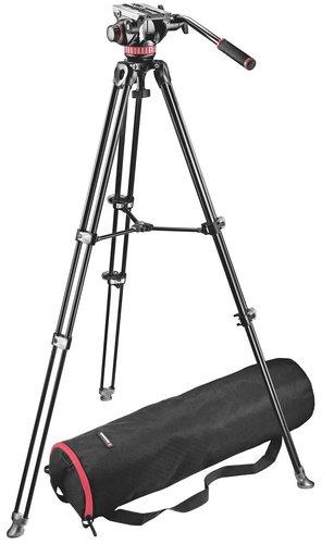 Manfrotto MVK502AM-1 MVH502A Head with MVT502AM Twin Leg Tripod and Bag MVK502AM-1