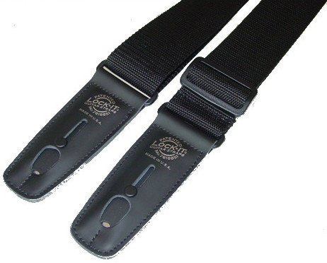 "Lock It Straps LIS 001 P2-BLK 2"" Black Polypro Guitar Strap with Black Locking Ends LIS-001-P2-BLK"