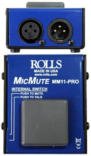Rolls MM11-PRO  Pro Switchable Mic Mute/Talk Professional Microphone Switch MM11-PRO