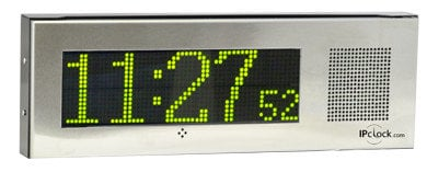 Advanced Network Devices IPCSS-RWB-IC Small Surface-Mount Singlewire/PBX-Compatible IP Clock with Red/White/Blue Flashers IPCSSRWBIC