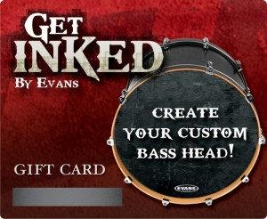 Evans INKCARDB Inked by Evans Custom Drumhead Gift Card INKCARDB