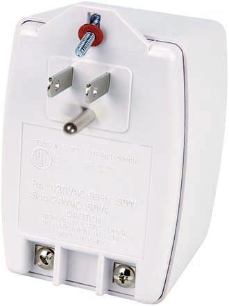Northern Video AC2450VA 24VAC 50vA Plug-in Transformer NTH-AC2450VA