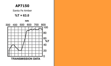 "Apollo Design Technology AP-GEL-7150 20"" x 24"" Sheet of ""Santa Fe Amber"" Gel AP-GEL-7150"