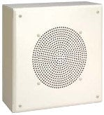 """Bogen Communications MB8TSQVR  8"""", 4W Flat Front Metal Box Surface-Mount Speaker with Recessed Volume Control MB8TSQVR"""