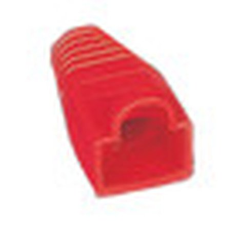 Liberty AV Solutions BOOT-S-RD 50-Pack of Snag-Free RJ45 Connector Strain Relief Boots in Red BOOT-S-RD