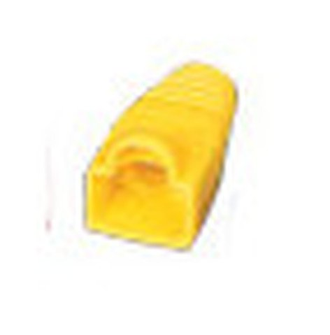 Liberty AV Solutions BOOT-S-YL 50-Pack of Snag-Free RJ45 Connector Strain Relief Boots in Yellow BOOT-S-YL