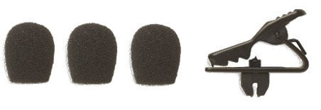 Shure RPM153B  Collar Clip and (3) Windscreens for MX153B in Black RPM153B