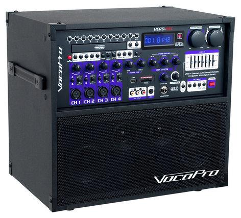 VocoPro HERO-REC BASIC 4-Channel Portable Multi-Format PA HERO-REC-BASIC