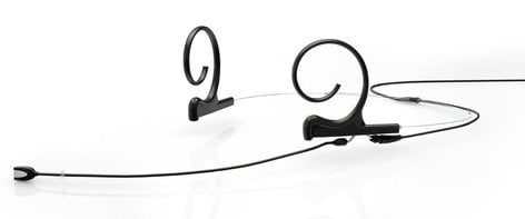 DPA Microphones FIOB10-2 d:fine™ Omnidirectional Dual Ear Headset Microphone with Long Boom and TA4F Connector, Black FIOB10-2