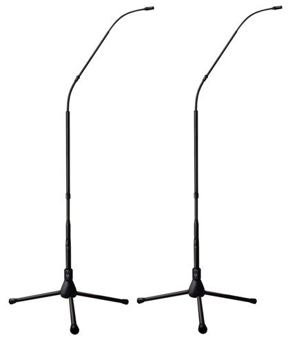 Earthworks FW430/HCTPBMP 4.7ft Hypercardioid Matched Pair of FlexWand Microphones withTripod Bases FW430/HCTPBMP