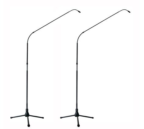 Earthworks FW730/HCmp Matched Pair of FlexWand 7 ft Cardioid Microphones with Cast Iron Bases FW730/HCMP