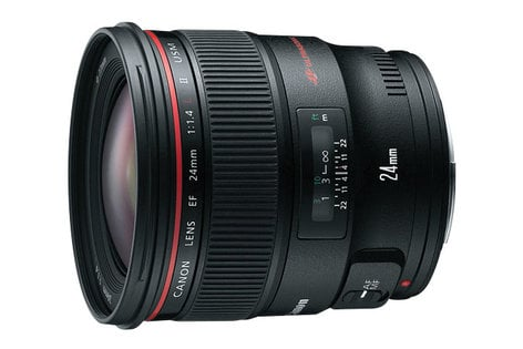 Canon 2750B002 Canon EF Wide-Angle Lens - 24 mm - F/1.4 2750B002