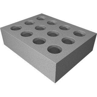 Grundorf 71-006  12-Hole Foam Microphone Insert in gray 71-006