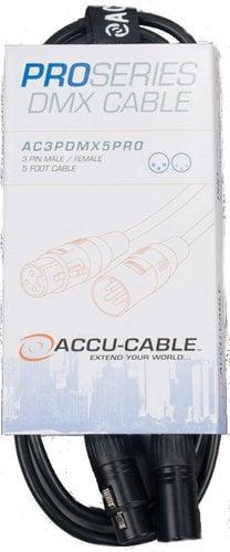 Accu-Cable AC3PDMX5PRO 5 ft 3-Pin Pro DMX Cable AC3PDMX5PRO
