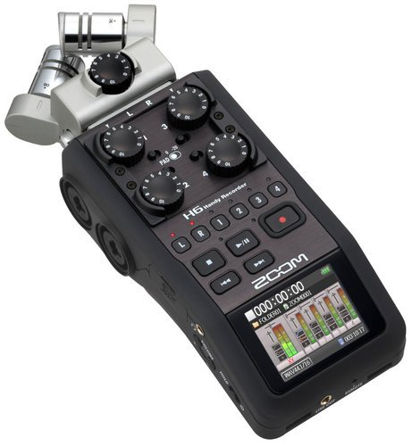 Zoom H6 6-Channel Handheld Recorder with 2 Interchangeable Microphone Capsules H6