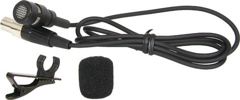 Galaxy Audio LV-U3BK Uni-Directional Lavalier Microphone in Black LV-U3BK