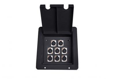 Elite Core Audio FB8 8 XLRF Floor Box FB8