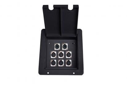Elite Core Audio FB8-2NE8FD  Elite Core FB8 Recessed Floor Box with 6 XLRF + 2 EtherCon Pass-Through Jack FB8-2NE8FD