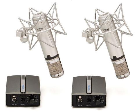 Miktek Audio CV4MP Matched Pair of Large Diaphragm Multi-Pattern Tube Condenser Microphone CV4MP
