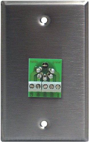 Lightronics Inc. CP501  Single-Gang Wall Plate with 5-Pin Male DMX Connector CP501