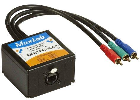 MuxLab 500052-Pro-RCA Component Video/Analog Audio ProAV Balun MUX-500052PRORCA