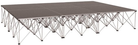 "IntelliStage ISTAGE12824T 96 Sq Ft x 24"" High Complete TuffCoat Stage System ISTAGE12824T"