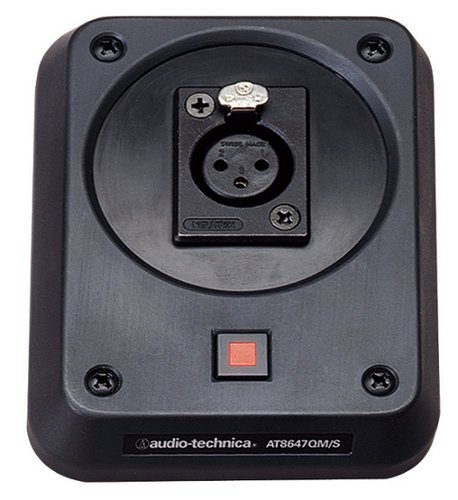 Audio-Technica AT8647QM/S Shockmount Plate With Mute Switch For UniPoint Gooseneck Microphones AT8647QMS