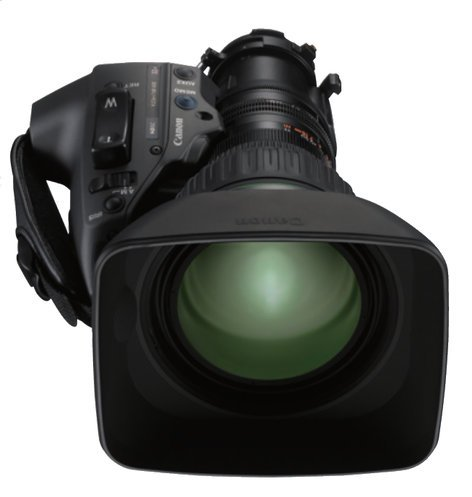 """Canon KJ22ex7.6B IRSE 2/3"""" HDgc Semi-Servo Telephoto ENG Lens KJ22EX7.6B-IRSE"""