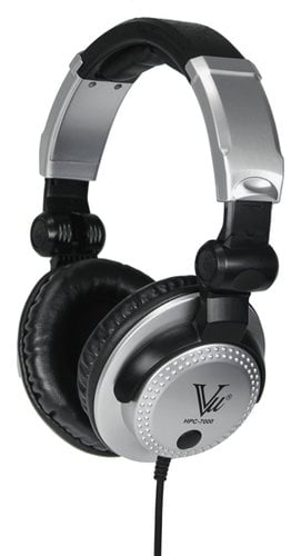 Vu HPC-7000 Closed Back Collapsible Studio Monitor Headphones HPC-7000