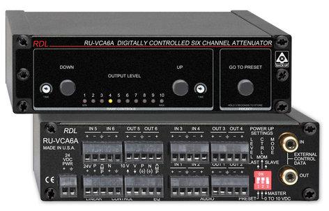 RDL RUVCA6A  6-Ch Digitally Controlled Attenuator RUVCA6A