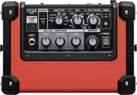 """Roland MCUBE-GXR Micro Cube GX 3W 1x5"""" Battery-Powered Modeling Combo Guitar Amplifier in Limited Edition Red MCUBE-GXR"""