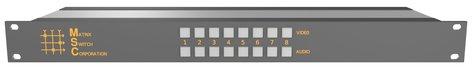 Matrix Switch Corporation MSC-HD81DEL  8x1 3G/HD/SD-SDI Video Switcher/Scaler with AES Digital Audio MSC-HD81DEL