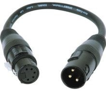 Accu-Cable AC3PM5PFM 3-Pin XLR-M to 5-Pin XLR-F Turnaround Adapter AC3PM5PFM