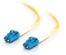 Cables To Go 29191  3' LC-LC 9/125 OS1 Duplex Singlemode PVC Fiber Optic Cable in Yellow 29191