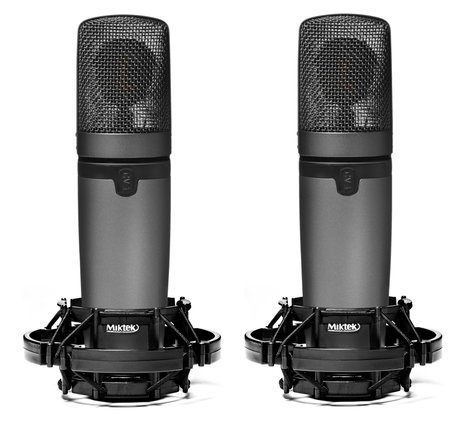 Miktek Audio CV3MP Matched Pair of Large Diaphragm Multi-Pattern Tube Condenser Microphones CV3MP