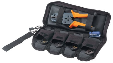 Paladin Tools PA4601  1600 Series 6-Piece Broadcast Crimp Tool and Coax Die Set Kit PA4601