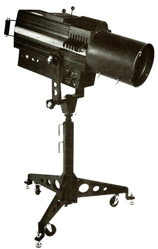 Lycian Stage Lighting 1209/240 240 Volt Midget HP Follow Spot Fixture 1209/240