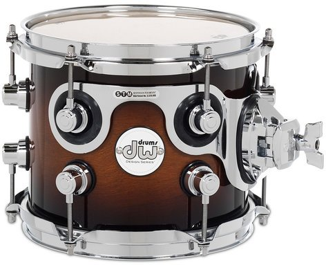 "DW DDLG0708STTB 7"" x 8"" Design Series Tom in Tobacco Burst Finish DDLG0708STTB"