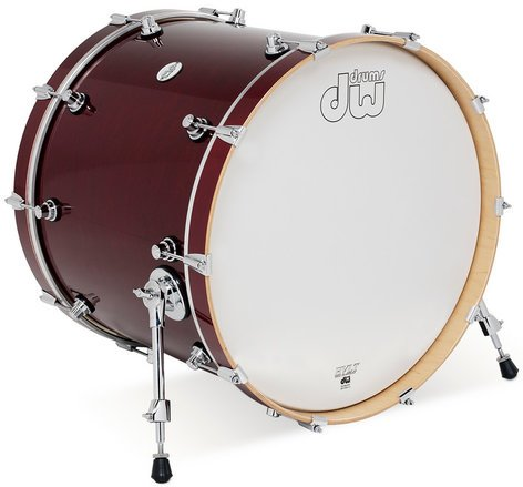"DW DDLG1822KKCS 18"" x 22"" Design Series Bass Drum in Cherry Stain Finish DDLG1822KKCS"
