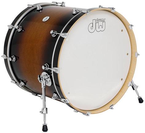 """DW DDLG1822KKTB 18"""" x 22"""" Design Series Bass Drum in Tobacco Burst Finish DDLG1822KKTB"""