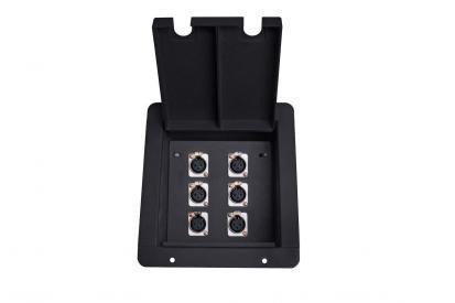 Elite Core Audio FB6 Recessed Floor Box with 6 XLRF FB6