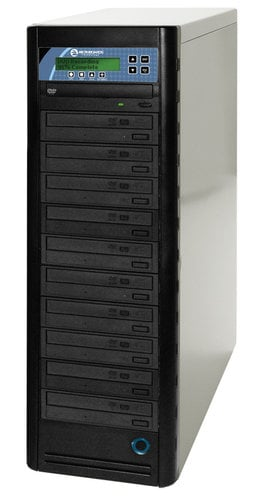 Microboards DVD PRM PRO-1016 10-Bay CopyWriter Pro CD/DVD Tower Duplicator with 500GB Built-In HDD DVD-PRM-PRO-1016