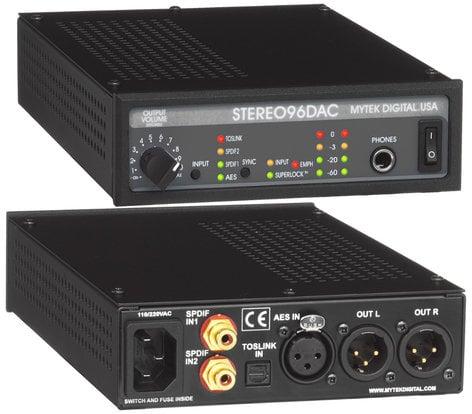Mytek Digital STEREO96 DAC Digital Audio Converter for Mastering STEREO96-DAC
