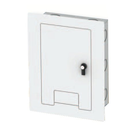 FSR, Inc WB-X1-CVR-WHT Locking Cover in White with Cable Exit for WB-X1 Back Boxes WB-X1-CVR-WHT