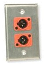 Whirlwind WP1B/2FNS  Single-Gang 2 XLR Wall Plate with Screw Termination WP1B/2FNS