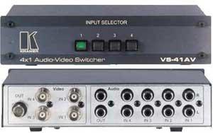 Kramer VS41AV 4x1 Video Audio Switcher VS41AV