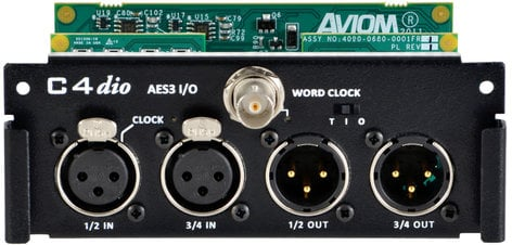 Aviom C4DIO  AES3 Digital I/O Card with 4in/4 for the AllFrame C4DIO