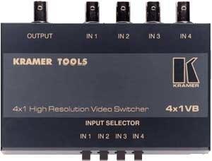 Kramer 4X1VB 4x1 Mechanical Video Switcher 4X1VB