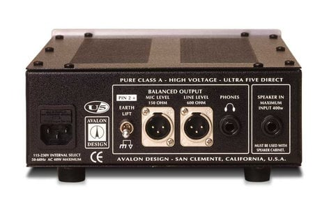 Avalon U5 Mono Instrument & DI Preamplifier U5